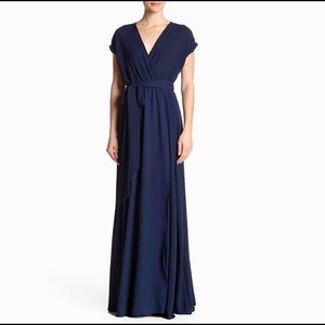 "NEW MEGHAN LA navy blue maxi dress ""Jasmine"" $425"